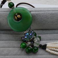 珍珠批发 中国风车饰品7-8mm天然淡水珍珠车饰品 珍珠车挂批发