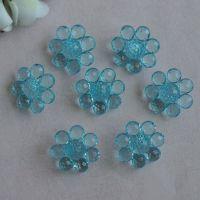 厂家直销 亚克力向日葵花朵25mm 透明亚克力花心 diy饰品配件散珠