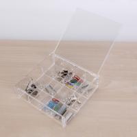 热卖亚克力透明首饰盒 翻盖格子 化妆品收纳盒 储物整理饰品盒