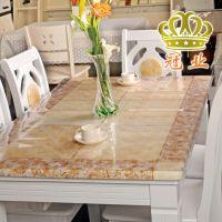 龙塑水晶板防水透明软玻璃pvc餐桌布磨砂免洗塑料茶几垫防油台布