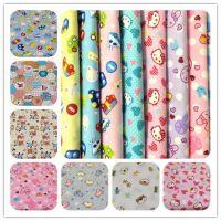 小卡通系列 全棉斜纹印花布料 床品服装手工布料 环保印染宝宝布