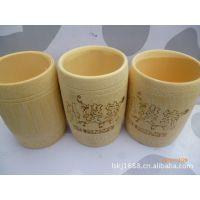 厂家直销竹茶具/大小杯子批发可定制图案。竹制品水杯子餐厅餐具