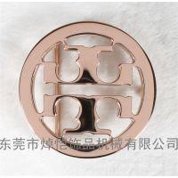 韩版时尚锌合金皮带扣头 女式皮带头 玫瑰金字母腰带头