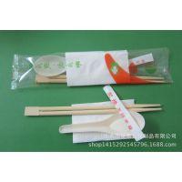 新款一次性餐具 一次性筷子 德克士汤勺组合四件套 环保餐具