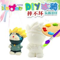 陶瓷存钱罐彩绘白胚 新奇特儿童益智玩具石膏涂鸦彩绘娃娃ZC-D068
