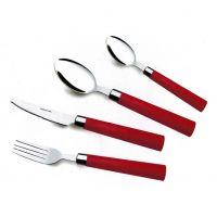 揭阳骏泰不锈钢餐具 四件套 刀叉勺子套装 礼品餐具 塑料柄餐具刀叉勺