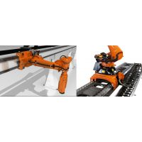 风电叶片加工后去毛刺打磨抛光自动化设备—七轴智能打磨机器人