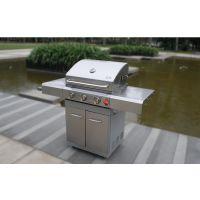 boweile/swiss抛光8309户外不锈钢三炉头燃气烧烤台炉