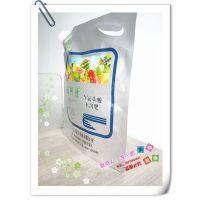 厂家定制款500ML农药铝箔袋 2L液体兽药吸嘴自立袋 防漏水透气3KG 4L 5L液体肥料袋订做