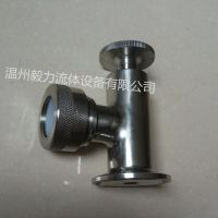 厂家直销 304不锈钢液位显示器 卫生级快装卡箍式玻璃管液位计