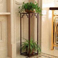 欧式铁艺实木多层室内阳台客厅田园花架子花盆架绿萝吊兰花架