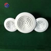 汇东批发 ABS风口 圆形塑料风口 ABS塑料散流风口 塑料可调风口