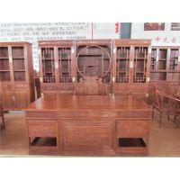 仿古中式全实木书桌书法书画桌仿红木办公桌子书房家具
