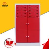 厂家直销联华钢制四层家用收纳柜,多款可选可定制的收纳柜