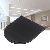 卡尔威供应办公皮具用品鼠标垫圆形皮革护腕鼠标垫皮质滑鼠垫定制