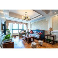 紫韵公寓133方现代美式环保清爽居家设计欣赏