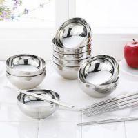 特价供应不锈钢亮关碗 家居厨房用品加厚耐摔 不锈钢饭碗