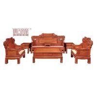 供应江苏南京帝豪红木家具店 花梨木家具价格 中式客厅 步步高升沙发