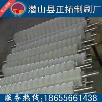 安徽毛刷厂家热销大型机械尼龙毛刷辊工业刷辊,可来图来样定做