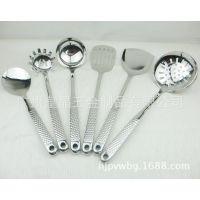 不锈钢厨具7件套,德国高档304厨具批发,锅铲/漏勺/汤勺烹饪套装