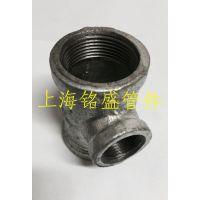 厂家批发国标玛钢管件 丝扣镀锌配件 异径三通DN40*15   40*20