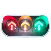 供应鑫光道300型透明面罩红黄绿三单元箭头交通信号灯