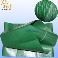 广州擎川工业0.6MM超薄绿色轻型PVC输送带 中间加透明导条