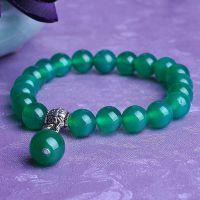 舞魅水晶 天然绿玛瑙手链 福绕身边玉髓手串 绿玛瑙饰品批发