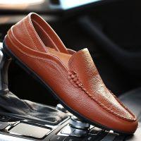 【新品预售】承发新款男士休闲皮鞋软面皮单鞋男豆豆鞋真皮透气