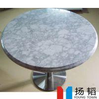 厂家批发, 大理石圆形/方形/长方形餐厅餐桌, 来样定制餐桌