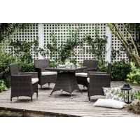 紫灿环保藤威尼斯经典花园休闲桌椅 一桌四椅