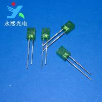 厂家出售 长脚2*5*7绿发翠绿色led发光二极管灯珠 背光方灯 永熙光电