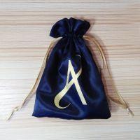 个性色丁布束口袋定制作 高档假发包装色丁袋 内衣丝绸缎