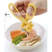 日本制 Gino婴儿食物碾碎夹/辅食剪/宝宝食物面条辅食加工剪刀