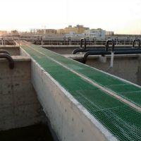 耐酸碱腐蚀玻璃钢格栅 污水处理厂专用地沟盖板 润吉供应
