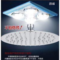 10寸圆形 不锈钢增压节水顶喷 淋雨花洒喷头 淋浴器配件 超薄款