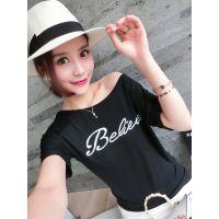 小银子2015夏装新款简约百搭超舒适亲肤莫代尔棉T恤T6123