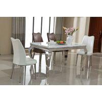 广东佛山不锈钢餐桌椅成套家具生产厂家 义成家具厂专业定做餐桌椅