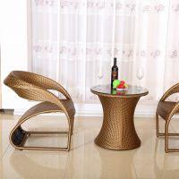 厂家生厂直销藤椅、藤椅三件套 简约舒适大气户外休闲家具