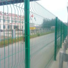 万泰公路防护网 市政道路隔离栅栏 三个折弯铁丝护栏