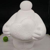儿童陶瓷彩绘白坯供应3--12元公园地摊玩具批发石膏白模15-30厘米