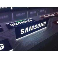 三星手机品牌吊牌灯箱:超薄双面发光效果,坚守天花板广告位