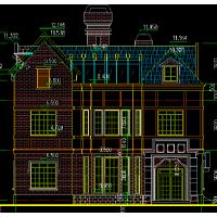 都市风格五层双拼框架自建房屋设计户型图13.4x13.3米