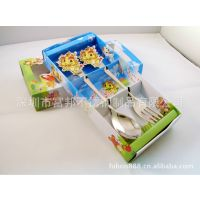 供应彩盒抽屉式新年礼品 龙年春节促销勺叉套装 生肖龙餐具礼品