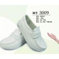 广州铂雅厂家直供3009牛皮气垫护士鞋