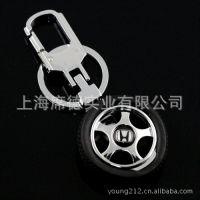 车标钥匙扣 4S店 汽车经销商 本田 轮毂可旋转 轮胎可脱卸 7018