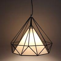 铁艺钻石吊灯 新中式现代艺术吊灯 酒吧办公室服装店餐厅单头灯具