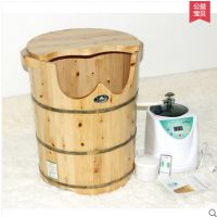 百山木桶  熏蒸桶  蒸汽足浴桶  加热55高泡脚桶  养生足疗桶