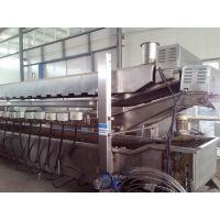 宜福达素肉生产成套设备_素肉油炸加工生产线_大豆拉丝蛋白油炸机流水线