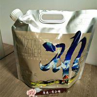 厂家订做5L冰川水纯铝手提袋 4.5KG纯净水旋盖吸嘴自立袋 8升折叠水袋